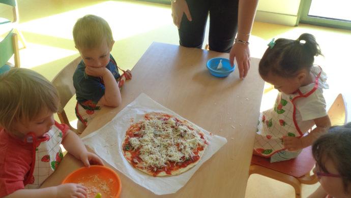 Pizza à la crèche de Montivilliers